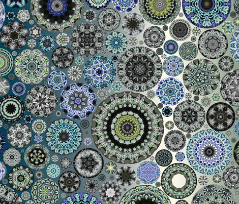 Fat Quarter Kaleidoscope Cheshire Cats - Mellow Meow fabric by amy_kollar_anderson on Spoonflower - custom fabric
