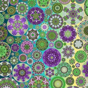 Fat Quarter Flowers You're Turning Violet, Violet