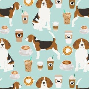 beagle coffee fabric mint cute coffees latte mint iced coffees fabric