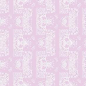 Pastel Lavender Whimsical Wayward Stripe