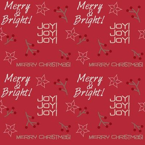 Merry and Bright! Red Background