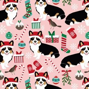 corgi christmas fabric cute tri colored corgis fabric cute xmas holiday cute corgis fabric