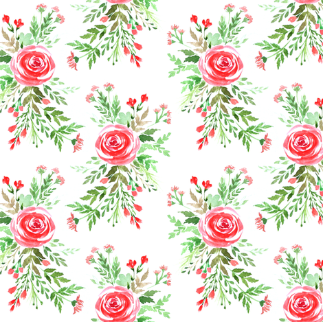 Spring roses fabric by dariara on Spoonflower - custom fabric