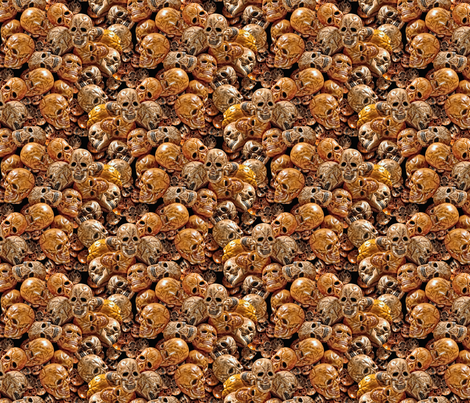 Day of the Very Very Dead fabric by hannafate on Spoonflower - custom fabric