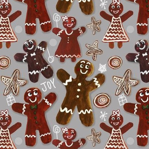 Gingerbread Party - Gray