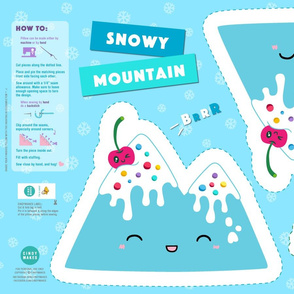 Snowy Mountain Ice Cream Pillow