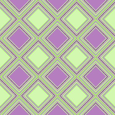 FNB2 - Mini Diamonds on Point Cheater Quilt  in Pastel Lime Green and Purple fabric by maryyx on Spoonflower - custom fabric