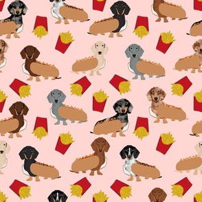dachshunds hot dogs and fries funny cute hot dogs doxie fabric cute doxie designs