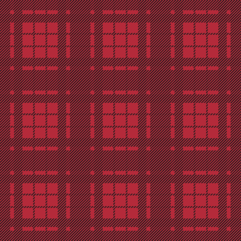 Lumberjack Plaid - Black and Red fabric by papercanoefabricshop on Spoonflower - custom fabric