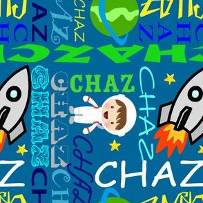 Rocket Ship in Space-Name Art