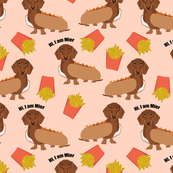 custom name hot dog fabric cute dogs dog names sweet dachshunds dog fabric