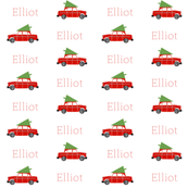 personalized custom name christmas fabric cute xmas holiday christmas design