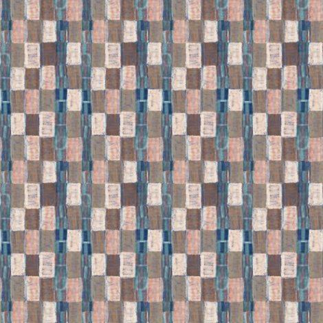 Interrupted Checkerboard (cream, pink, and pale blue) fabric by jaylinn on Spoonflower - custom fabric