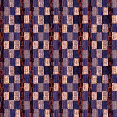 Interrupted Checkerboard (purple, cream, and rust) fabric by jaylinn on Spoonflower - custom fabric
