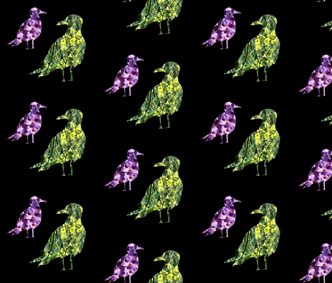 Floral flight fabric by redthanet on Spoonflower - custom fabric