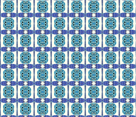 Happy Days in Blue - P335 fabric by leah_quinn_design on Spoonflower - custom fabric