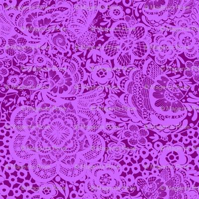 Purple floral, Bohemian Violet lace