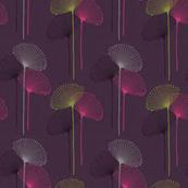 Deep Purple with Fan Flowers