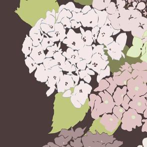 Plum Crowded Hydrangea Garden
