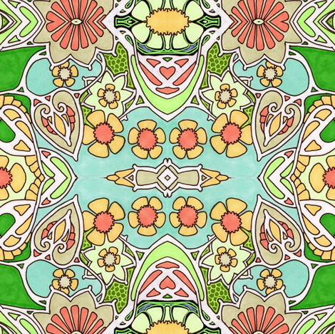 Spring Cheer Here fabric by edsel2084 on Spoonflower - custom fabric