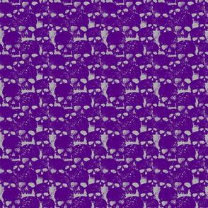 Skull Pattern In Purple