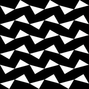Tri Zag No. 1 - White Triangles on Black
