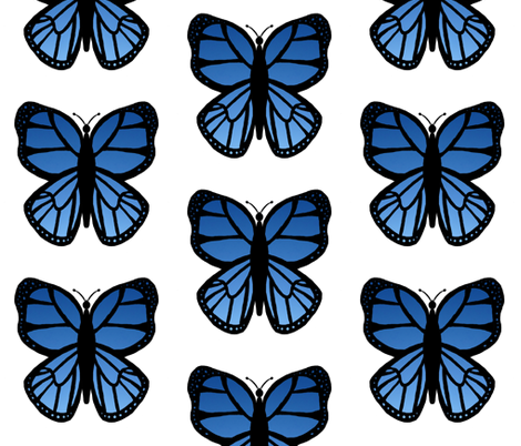 Blue Butterfly 2 fabric by essieofwho on Spoonflower - custom fabric