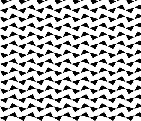 Tri Zag No. 2 - Black Triangles on White fabric by reachesfar on Spoonflower - custom fabric