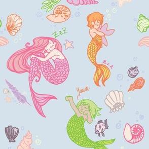 Colourful Mermaid Naps