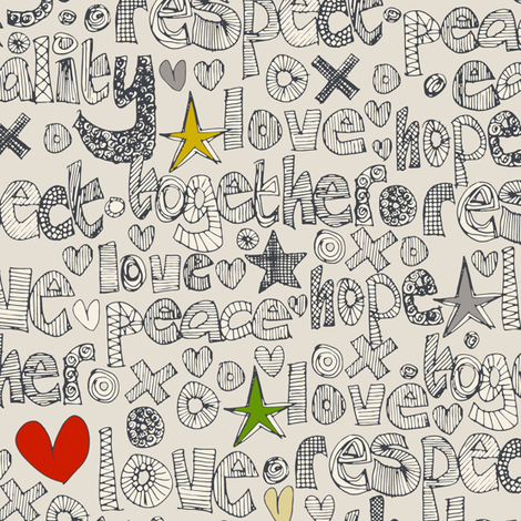 respect fabric by scrummy on Spoonflower - custom fabric