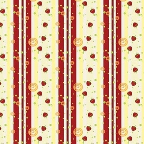 Summer Strawberry Swirl Stripes Pattern - Small