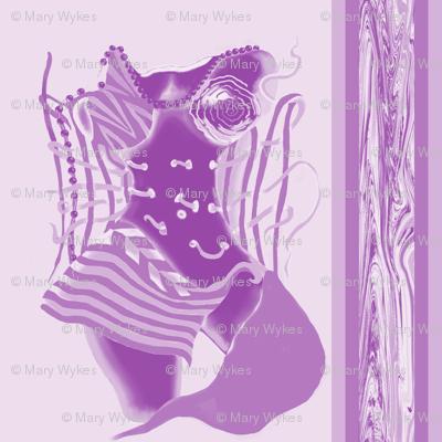 Unlaced - Undone, Belly Dancer, Purple, Lavender, large