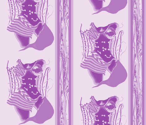 Unlaced - Undone, Belly Dancer, Purple, Lavender, large fabric by maryyx on Spoonflower - custom fabric