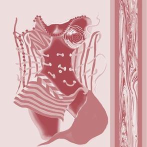 Unlaced - Undone, Belly Dancer, Red, Burgundy, Large