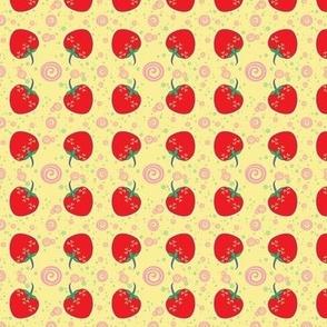 Small Bright Strawberry Swirl Pattern