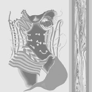 Unlaced - Undone,  Belly Dancer, Grey, Large