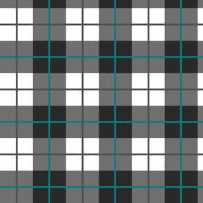 Charcoal Teal Plaid Medium