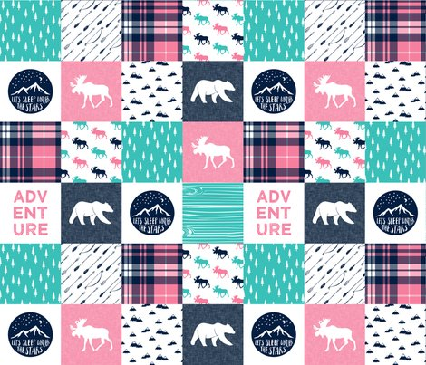 Rr11_new_teal_pink_white_moose_on_navy-01_shop_preview