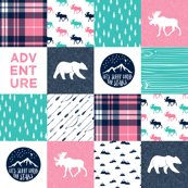 Rr11_new_teal_pink_white_moose_on_navy-01_shop_thumb