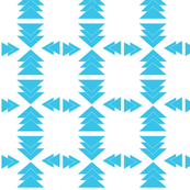 Blue Aztec Triangles