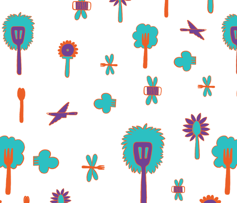 spooncolored fabric by papercharade on Spoonflower - custom fabric
