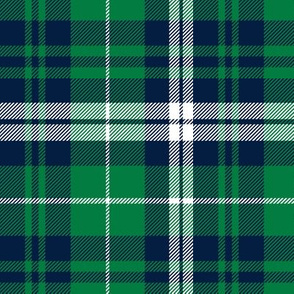 fall plaid - navy and green - wholecloth plaid coordinate