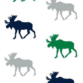 multi moose || navy, green, grey (wholecloth coordinate fabric)
