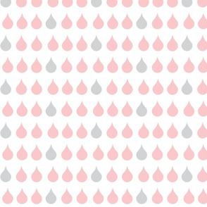 Raindrops -  petal gray