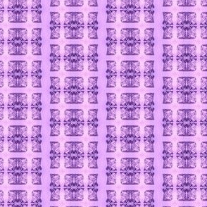 Father Christmas Squares Off, Purple on Lavender