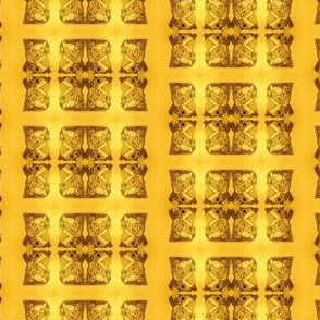 Father Christmas Squares Off,  Gold on Gold