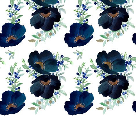 Blueberry Fields  fabric by shopcabin on Spoonflower - custom fabric