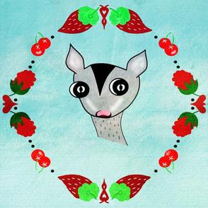 Sugar Glider Berries Wreath