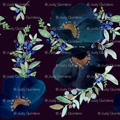 Blueberry Fields - Purple