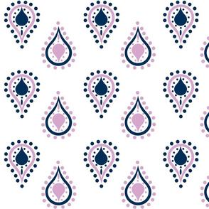 paisley raindrops - lavender